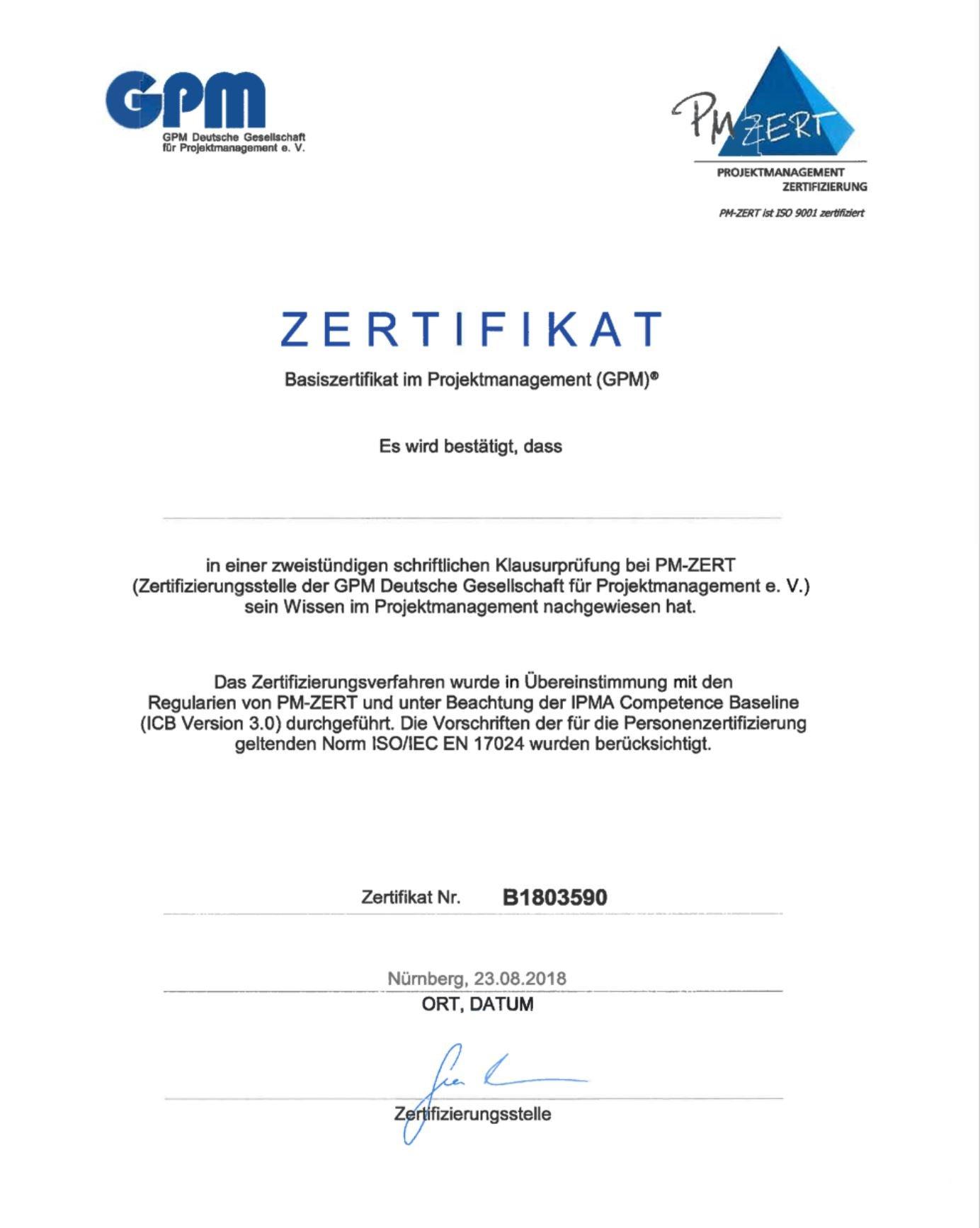 eXirius gratuliert 13 frisch Zertifizierten zum Basiszertifikat